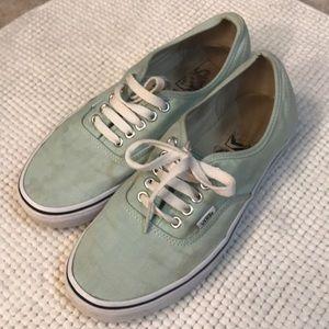 Vans! Mint green- 9.5